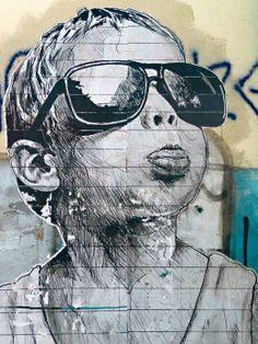 Graffiti, little boy with sunglasses STMTS www.stmtsart.com/ Πηγή: www.lifo.gr