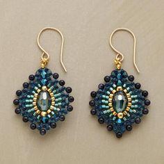 BLUE PLUME EARRINGS: View 1