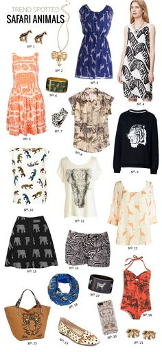 // Trend Spotted: Safari Animals by Modern Eve