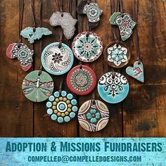 We offer Risk-free Fundraisers for Adoption and Missions trips. Your only up-front cost is shipping ($6) and you can return unsold pieces when you are done. Email us for more info Compelled@CompelledDesigns.com