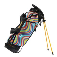 Loudmouth Golf Bag with Torry Lines print.