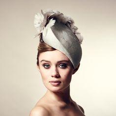 Rosie Olivia Millinery SS16 - Lulu hat of straw and turkey feather flowers with swarovski crystals £440