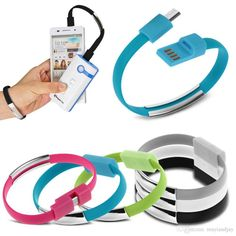 Direct Burial Phone Cable Micro Usb Cable Charger Data Sync Cell Phone Cables For Samsung S6 HtcV8 Bracelet Style Colorful Charging Cord Dhl Free Cable Connectors From Mayiandjay, $0.24
