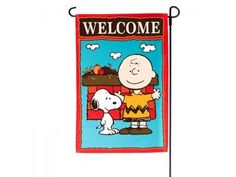 PEANUTS SNOOPY AND CHARLIE BROWNWELCOME FALL MINI FLAG SIZE 12x18NEW @ niftywarehouse.com #NiftyWarehouse #Peanuts #CharlieBrown #Comics #Gifts #Products