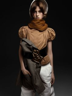 interesting outfit - sojourner morrell photographed by steven pan  for double magazine issue #23