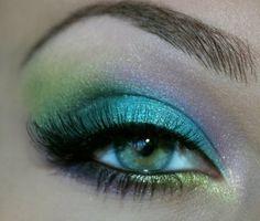 Blue, green, purple eyeshadow #vibrant #bright #bold #eye #makeup #eyes