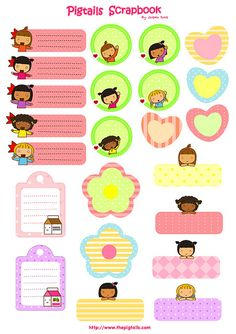 FREE printable tags and sticker // a4-pigtails_labels by thepigtails, via Flickr