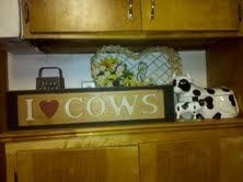 Cow kitchens and i love on pinterest - Kitchen cow theme ...