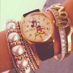 mickey mouse clock. my mom used to have this watch. vintage.