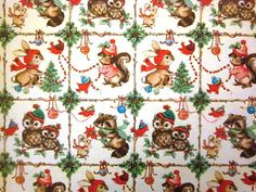 Vintage Wrapping Paper  Christmas Animals  One by TillaHomestead, $5.50