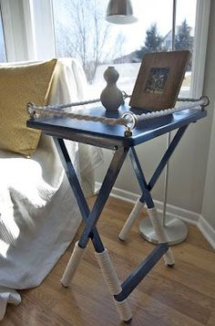 Pimp up your tv tray.  Makes cute night stands!: