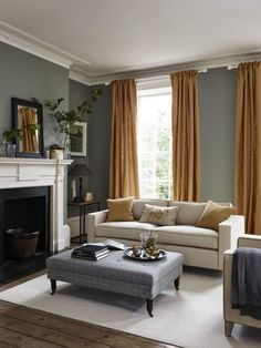81 Classic Traditional Living Room Decor Ideas You Can Apply . - 81 Classic Traditional Living Room Decor Ideas You Can Apply … – living roo - Living Room Grey, Living Room Interior, Grey Living Room Curtains, Classic Living Room, Grey Living Room Furniture, Bedroom Furniture, Grey Room, Living Area, Colours That Go With Grey