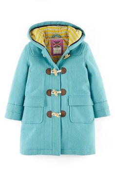 Mini Boden 'Funky Duffle' Toggle Coat (Toddler Girls, Little Girls & Big Girls) available at #Nordstrom