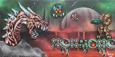 Metroid pixel perler bead art !! Metroids vs. samus aran !! Perler Bead Art, Perler Beads, Samus Aran, Metroid, Pixel Art, Movie Posters, Film Poster, Billboard, Film Posters