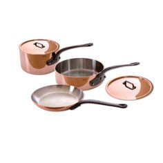 Mauviel Made In France MHeritage Copper 150c 640001 5Piece Set with Cast Iron Handles ** Check out the image by visiting the link.