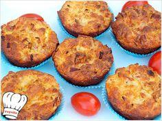 ΑΛΜΥΡΑ MUFFINS ΜΕ ΠΡΑΣΟ ΤΥΡΙΑ ΚΑΙ ΜΠΕΙΚΟΝ!!!! Cupcakes, Muffins, Breakfast, Recipes, Food, Morning Coffee, Cupcake Cakes, Muffin, Essen