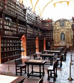 The Biblioteca Palafoxiana is a library in Puebla, Puebla, Mexico. Founded in 1646, it was the first public library in colonial Mexico, and is sometimes considered the first in the Americas.