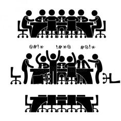 Illustration of Business Meeting Discussion Brainstorm Workplace Office Situation Scenario Pictogram Concept vector art, clipart and stock vectors. Business Meeting, Banner Printing, Stick Figures, Brainstorm, Photography Business, Workplace, Branding Design, Finance, Concept