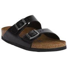 Pre-owned Birkenstock Arizona Soft Footbed Amalfi Leather Black... ($135) ❤ liked on Polyvore featuring shoes, sandals, black, arch support shoes, black sandals, black strappy shoes, leather sandals и black strap shoes