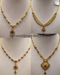 Jewellery Designs: Simple Necklaces 10 to 15 Grams