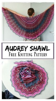 Audrey Lace Shawl Free Knitting Pattern #freeknittingpattern #shawl