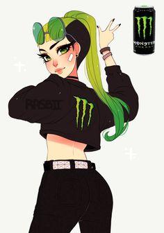 some drinks but as cute girls instead Cartoon Art Styles, Cute Art Styles, Cartoon As Anime, Girl Cartoon, Anime Version, Monster Energy, Anime Art Girl, Anime Girls, Pretty Art