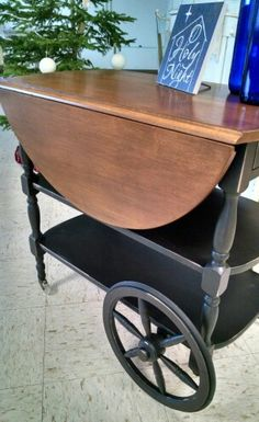 Grandmas tea cart painted Midnight!