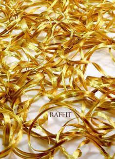 Antique Gold- Pearl Finish RAFFÍT RIBBONS Luxury Raffia, Ribbons & Trim on Vintage Spools – Enticing the Most Discerning International Houses of Fashion Shop: www.Raffit.com The Original Raffia Made in USA