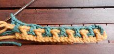 Tina's handicraft : crochet stitch – Harika El işleri-Hobiler Tunisian Crochet, Crochet Shawl, Crochet Stitches, Knit Crochet, Crochet Blanket Patterns, Baby Blanket Crochet, Crochet Baby, Free Crochet, Crochet Crafts