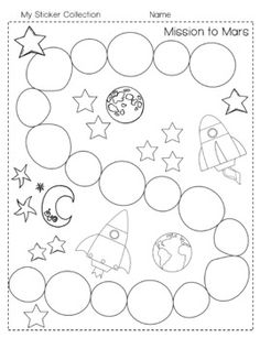 Five Little Men in a Flying Saucer colouring sheets