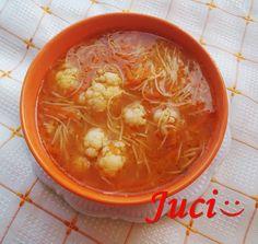 Könnyű a főzés, ha van miből!: Paradicsomos, vékonylaskás karfiol leves (hús nélkül)