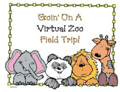 Goin' On A Virtual Zoo Field Trip: A FREE list of 8 outstanding zoo sites. I chose these because they are kid-friendly and have games, activities, live animal cams, videos, photographs & interesting information suitable for animal reports. Zoo Activities Preschool, Zoo Animal Activities, Animal Games, The Zoo, Zoo Scavenger Hunts, Zoo Book, Classroom Freebies, Classroom Ideas, Classroom Organization