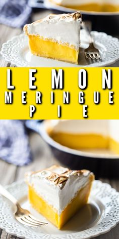Perfect Lemon Meringue Pie: This recipe can't miss! Tangy filling that sets up firm and a billowy meringue that doesn't weep. Hands down, the world's best lemon meringue pie recipe! #lemonmeringuepie #lemonmeringue #pie #easy #recipe #best #oldfashioned #homemade #videos #fromscratch #southern #filling #classic #simple #mile high #topping #bakingamoment Pie Recipes, Yummy Recipes, Yummy Food, Best Lemon Meringue Pie, Homemade Cookbook, Lemon Filling, No Bake Pies, Tarts, Southern