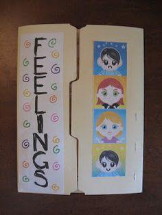 Fumbling Through Parenthood: Feelings Lapbook- Making It