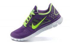 Nike Free 2014 Dames Purper/Groen Sportschoenen