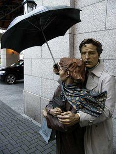 Seward Johnson statue at Four Seasons Hotel Dublin,Ireland. Outdoor Sculpture, Sculpture Art, Hdr Architecture, Seward Johnson, Installation Art, Art Installations, Erin Go Bragh, Historical Monuments, Unusual Art