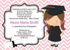 DIY Girl Pre K or Kindergarten Graduation por PinkMonkeyPrints