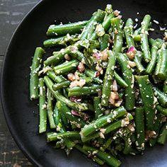 Green Bean Salad with Basil, Balsamic, and Parmesan u