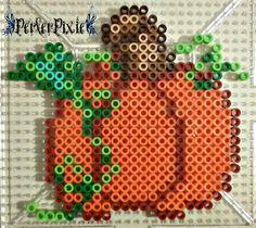 Mini pumpkin perler beads by PerlerPixie Perler Bead Designs, Diy Perler Beads, Perler Bead Art, Pearler Beads, Melty Bead Patterns, Pearler Bead Patterns, Perler Patterns, Beading Patterns, Halloween Beads