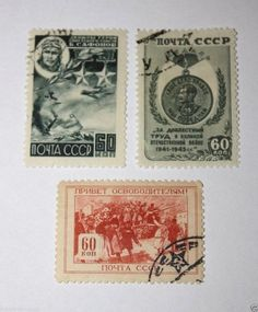 Postage stamps RUSSIA 1945 POST OF RUSSIA, Collectibles,WORLD WAR II