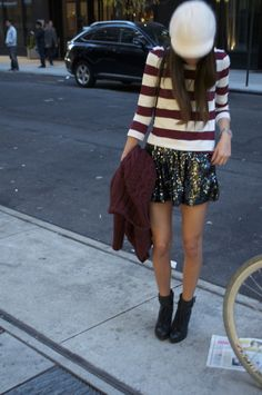 so cute, something navy, love the skirt with the top