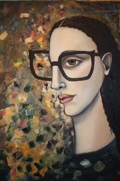 "Title : "" Verifocal"" - Oil on canvas by Audrey Rudnick - Umdloti Kwazulu natal South Africa Kwazulu Natal, Inventions, South Africa, Oil On Canvas, Mona Lisa, Ink, Sculpture, Artwork, Painting"