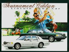 The Oxford White leather seats were accented with Evergreen trim. The Y-spoke aluminum wheels were part of this special edition package. Lincoln Motor Company, Ford Motor Company, Lincoln Town Car, Oxford White, Lincoln Continental, Car Stuff, Vintage Advertisements, Mercury, North America