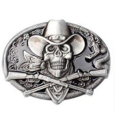 Skull Gun Metal Buckle Belt    https://www.skullflow.com/collections/skull-belts-buckles/products/skull-gun-metal-buckle-belt