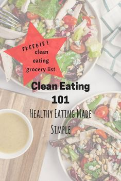 clean eating 101: Healthy eating made simple. Clean eating is NOT a diet. It is a revamping of your diet. #dietreboot #cleaneating101 #cleaneatingplan #cleanfood #cleanliving #drinkwater