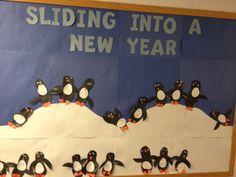 January bulletin board: sliding into a new year