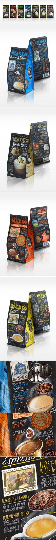 Madeo #Coffee, Creative Agency: Getbrand - http://www.packagingoftheworld.com/2014/10/madeo-coffee.html