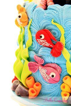 Cake│Queque - #Cake Pretty Cakes, Cute Cakes, Beautiful Cakes, Amazing Cakes, Fondant Cakes, Cupcake Cakes, Ocean Cakes, Fancy Cakes, Love Cake