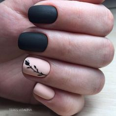 66 Trendy Manicure Colors For Short Nails Black Nail Designs, Short Nail Designs, Simple Nail Designs, Matte Black Nails, Blue Nails, My Nails, Matte Blush, Matte Gel Nails, Matte Pink
