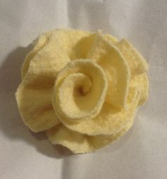 yellow brooch wool Felted flower pin by mcleodhandcraftgifts